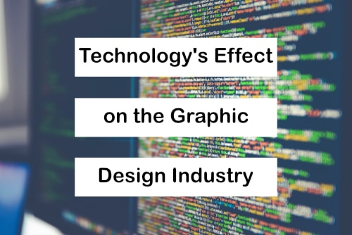 technology effect on graphic design cover pic