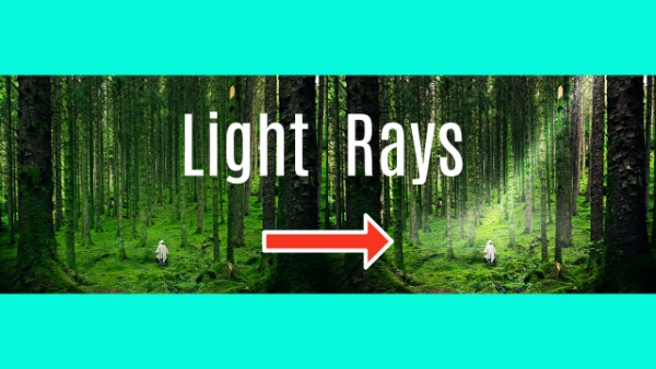 how to create light rays