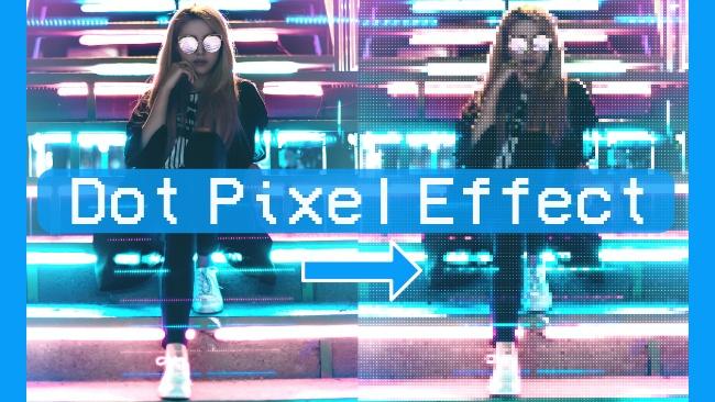 create a dot pixel effect